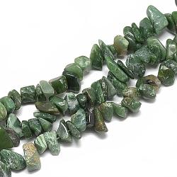 Perles de jaspe naturel afrique du sud, puce, 8~30x7~17x2~12mm, trou: 1mm; environ 110~150 pcs/chapelet, 31.4''(G-S317-13)