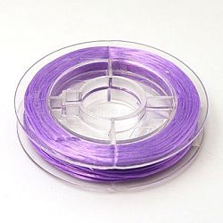 fil élastique de perles extensible solide, chaîne de cristal élastique plat, Mediumpurple, 0.8 mm; sur 10 m / rouleau(EW-N002-08)