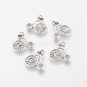 10 x Pennyfarthing Bicycle Charms Pendants Findings 18mm x 17mm Antique Bronze
