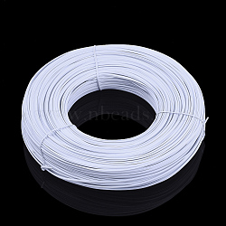 PE Nose Bridge Wire for Mouth Cover, with Galvanized Iron Wire Single Core Inside, DIY Disposable Mouth Cover Material, White, 2.7mm; 180m/bundle(OCOR-Q051-01B)