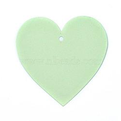 Carte de papier kraft vierge, nacré, carte de signet de bricolage, cœur, palegreen, 10x10x0.03 cm, trou: 0.5 cm(DIY-WH0143-07A-03)