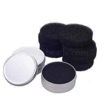 PandaHall Elite Makeup Brush Cleaner Sponge, Remover Color From Brush, 83.5x30mm(MRMJ-PH0001-24)