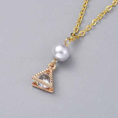 Triangle Alloy Pendants Necklaces(X-NJEW-JN02565-02)-3
