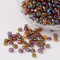 6/0 transparentes couleurs de l'arc perles de graines de verre rond, mistyrose, taille: environ 4mm de diamètre, Trou: 1.5 mm, environ 495 pcs/50 g