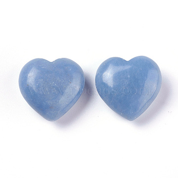 Natural Angelite Beads, No Hole/Undrilled, Heart, 24~25x25x11mm(X-G-O174-10)