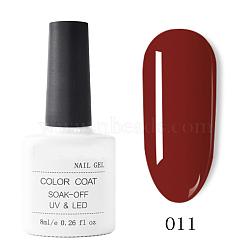 гель для ногтей, чистый гель uv цвета, для дизайна ногтей, огнеупорный кирпич, 7.2x3.2 см; 8 мл / бутылка(MRMJ-T009-029-11)