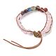 Natural Rose Quartz Cord Beaded Bracelets(BJEW-E351-02D)-2