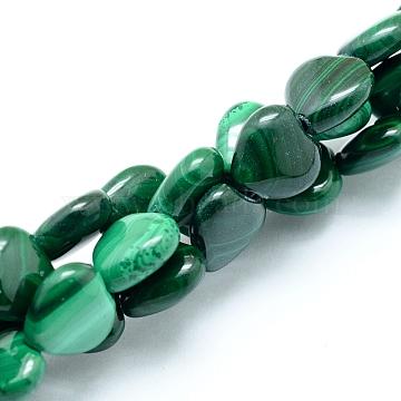 10mm Heart Malachite Beads