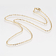 304 Stainless Steel Rolo Chain Necklaces(NJEW-F179-03G)-1