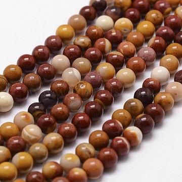 Mookaite naturel chapelets de perles rondes, 8mm, trou: 1mm; environ 49 pcs/chapelet, 16(G-G735-18-8mm)