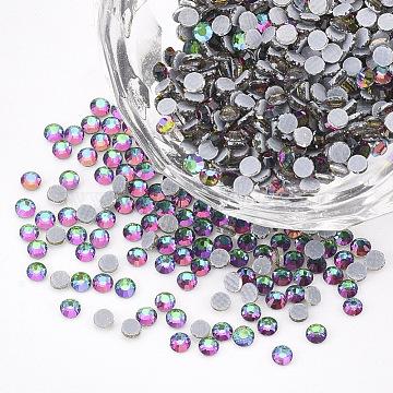 Hotfix Rhinestone, Glass Rhinestone Flat Back Cabochons, Half Round, Colorful, SS6, 1.9~2x1mm; about 1440pcs/bag(RGLA-T149-SS6-05)