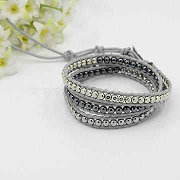 Silver Hematite Bracelets