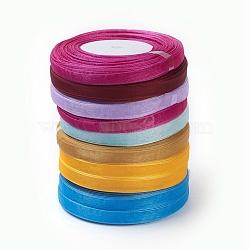 """Ruban d'organza, matériel de bricolage pour organza arc, couleur mixte, environ 3/8"""" (10mm) de large, 50yards / roll (45.72m / roll).(ORIB-D001-10mm-M)"""