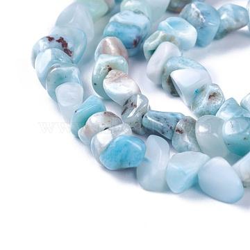 4mm Nuggets Larimar Beads
