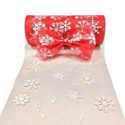 Tissu de flocon de neige, Tissu à carreaux en tulle pour la fabrication de jupe, rouge, 6'' (15 cm); environ 10 mètres / rouleau (9.144 m / rouleau)(OCOR-P010-G08)