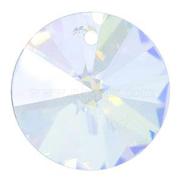 Austrian Crystal, 6428 Xilion Rivoli Pendant, 001 AB_Crystal AB, Size: about 8mm in diameter(X-SWAR-6428-8MM-001AB)