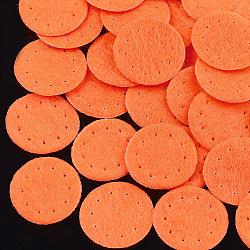 Tampon de parfum en tissu non tissé, plat rond, orange foncé, 19~20x0.6 mm; environ 2000 PCs / sac(DIY-S035-10G-20mm)