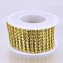 Gold Plastic Rhinestone Banding Trim Chain(OCOR-N005-001A)
