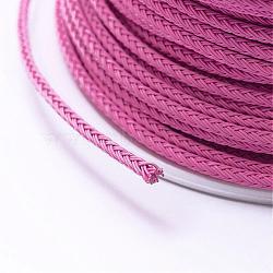 Câble de fil d'acier tressé, bricolage bijoux matériau de fabrication, hotpink, 2.2mm; environ 10yards / roll (9.144m / roll)(OCOR-P003-2.2mm-01)