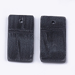 Gray Rectangle Imitation Leather Pendants(X-FIND-S299-03A)