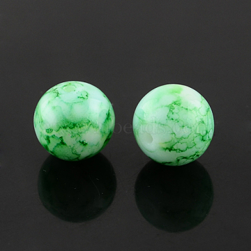 6mm SeaGreen Round Glass Beads