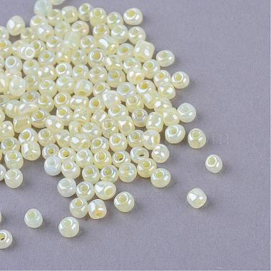 4mm LightGoldenrodYellow Glass Beads