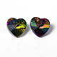 Faceted Heart Electroplated Glass Pendants(X-EGLA-R082-04)-3