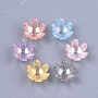 14mm Couleur Mixte Fleur Acrylique Cages à perles(X-TACR-T007-07)