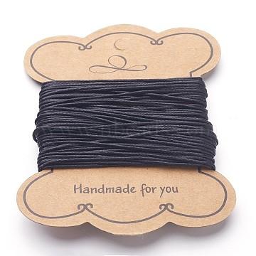 1mm Black Waxed Cotton Cord Thread & Cord
