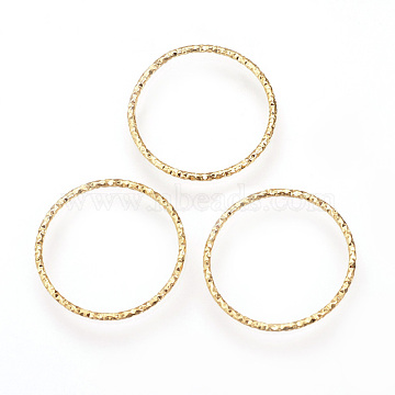 Brass Linking Rings, Soldered, Nickel Free, Real 18K Gold Plated, 30mm(X-KK-R058-199)