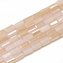 PeachPuff Cuboid Glass Beads(X-EGLA-Q101-B01)