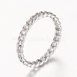Латунные полые кольца палец, платина, 16 мм(RJEW-T001-17P)