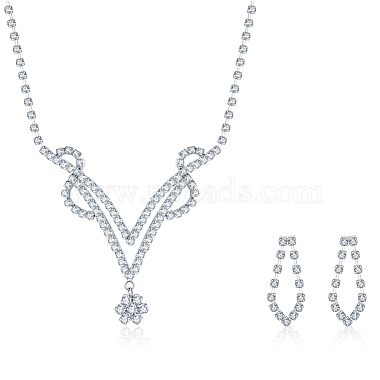 Rhinestone Earrings & Necklaces