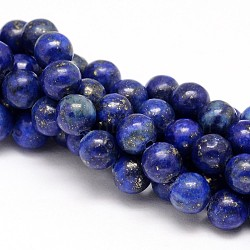 Natural Lapis Lazuli Round Beads Strands, Dyed, 4mm, Hole: 1mm; about 95pcs/strand, 15.5