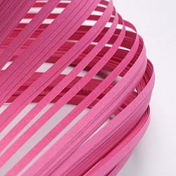 Bandes de papier quilling, hotpink, 390x3mm; à propos 120strips / sac(X-DIY-J001-3mm-B03)