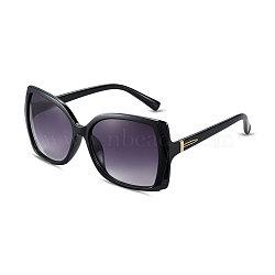 New Fashion Women Cat Eye Sunglasses, Black Plastic Frames and PC Space Lens, Inky, 4.9x14cm(SG-BB14422-2)
