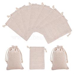 Pochettes d'emballage en coton, blé, 15x10 cm(ABAG-PH0002-33B)