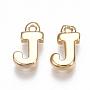 Real Gold Plated Alphabet Brass Charms(X-KK-S350-167J-G)