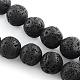 Pierres précieuses de lave naturelle chapelets de perles rondes(G-R285-8mm-06)-1