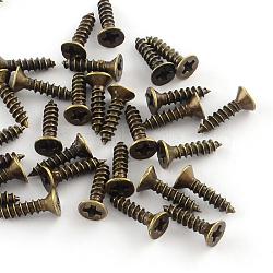Железная фурнитура винта, античная бронза, контактный: 2.5 мм; 10x4мм; о 1940шт / 500g(IFIN-R203-32AB)