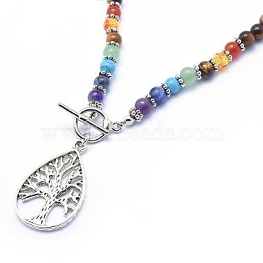 Tibetan Style Alloy Pendant Necklaces(NJEW-F170-A02)-2