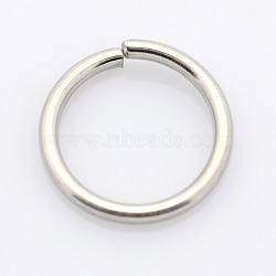 304 Stainless Steel Closed But not Soldered Jump Rings, Stainless Steel Color, 20 Gauge, 7x0.8mm; Inner Diameter: 5.4mm; about 127pcs/10g(X-STAS-E067-05-7mm)