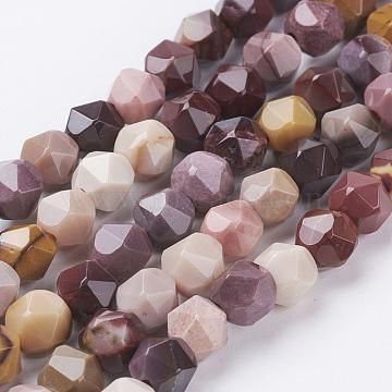 """Chapelets de perles en mookaite naturelles, facette, rond, 6x5mm, trou: 0.8mm; environ 68 pcs/chapelet, 15.3"""" (39 cm)(G-J376-53A-6mm)"""
