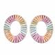 Handmade Raffia Woven Linging Rings(WOVE-S120-01)-2