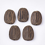 26mm CoconutBrown Oval Wood Beads(X-WOOD-S053-34)