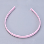 Pearl Pink Plastic Hair Bands(OHAR-S195-02D)