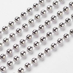 железный шар цепи, пайки, платина, никель свободный, 3.2 mm в диаметре(X-CHB004Y-NF)