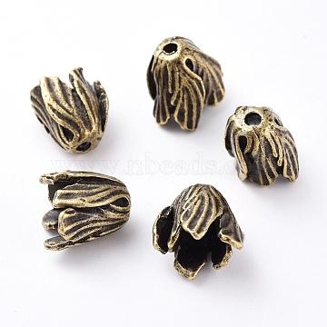 Antique Bronze Alloy Bead Caps