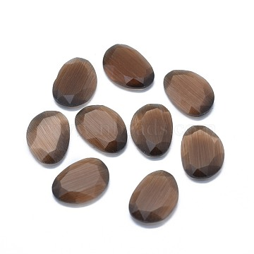 18mm Coffee Nuggets Glass Cabochons