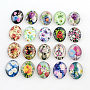 25mm Mixed Color Oval Glass Cabochons(X-GGLA-R022-25x18-75)